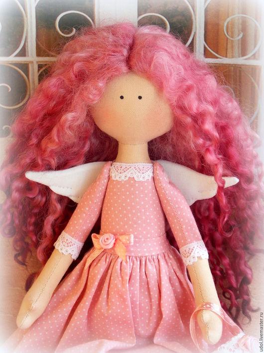 Куклы тыквоголовки ручной работы. Ярмарка Мастеров - ручная работа. Купить Куколка малышка. Handmade. Розовый, кукла малышка