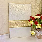 Картины и панно handmade. Livemaster - original item Interior painting with gold