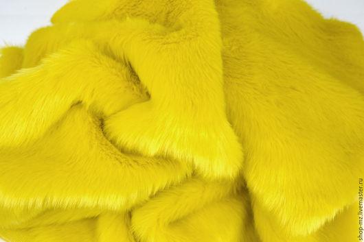Куклы и игрушки ручной работы. Ярмарка Мастеров - ручная работа. Купить Мех Желтый 20 мм. Handmade. Мех