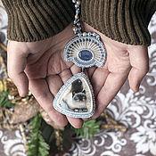 Украшения handmade. Livemaster - original item choker Rustling Winter Stars (cat pendant painted). Handmade.
