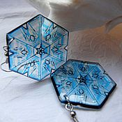 Украшения handmade. Livemaster - original item Snowflake Blizzard earrings. Handmade.