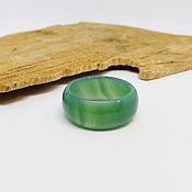 Украшения handmade. Livemaster - original item Green agate ring, chalcedony 17.5 R-R. Handmade.