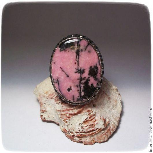 """Кольца ручной работы. Ярмарка Мастеров - ручная работа. Купить Родонит кольцо """"Бригантина"""". Handmade. Розовый, ювелирные украшения"""