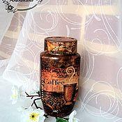 Для дома и интерьера handmade. Livemaster - original item Gift jar with coffee. Handmade.