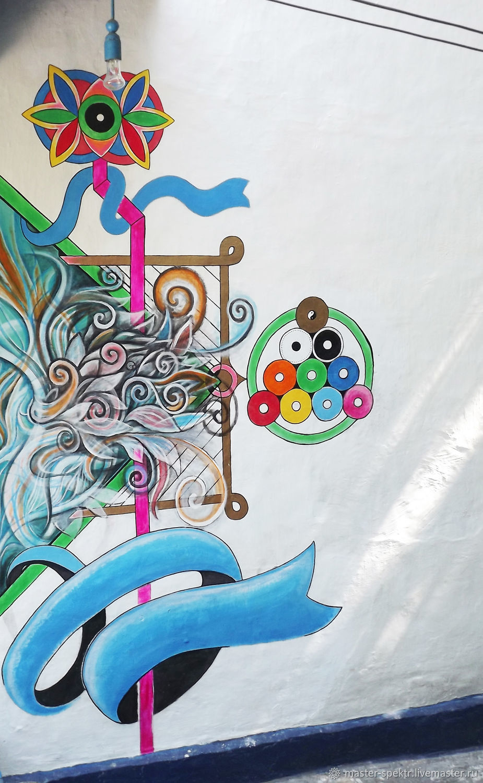 Роспись стен жилого дома, рисунок у входа, Декор, Шахты,  Фото №1
