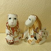 Посуда handmade. Livemaster - original item Set for spices-salt and pepper shakers porcelain