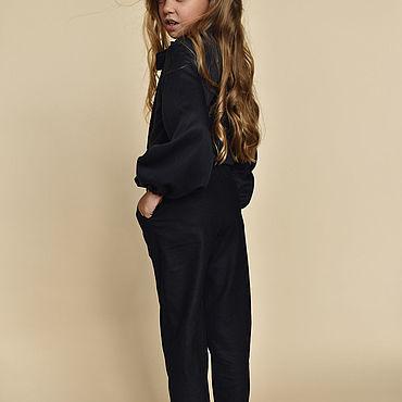 Одежда ручной работы. Ярмарка Мастеров - ручная работа Брюки из шерсти черного цвета. Handmade.