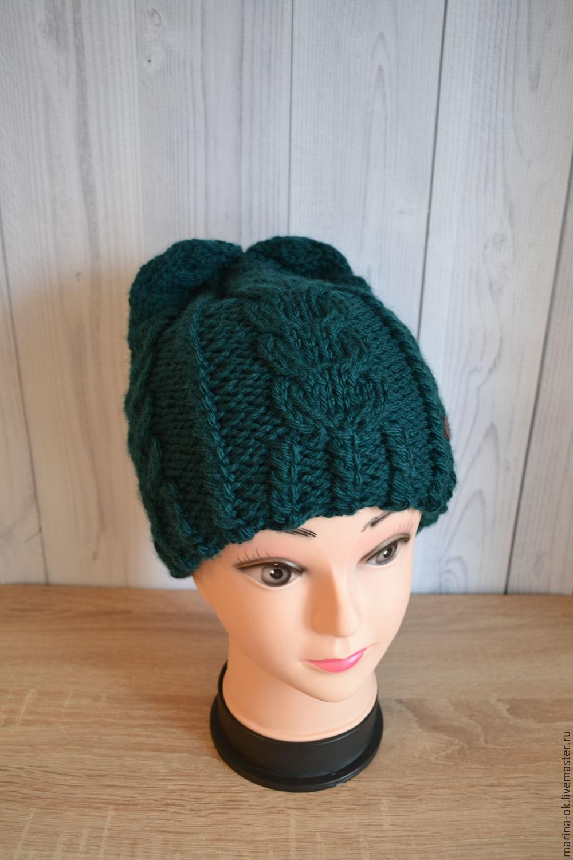 шапки женские вязаные спицами 2013 с инструкцией