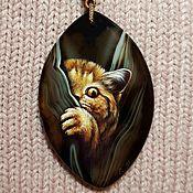 """Украшения ручной работы. Ярмарка Мастеров - ручная работа Кулон-улыбка """"Мышь!"""". Handmade."""