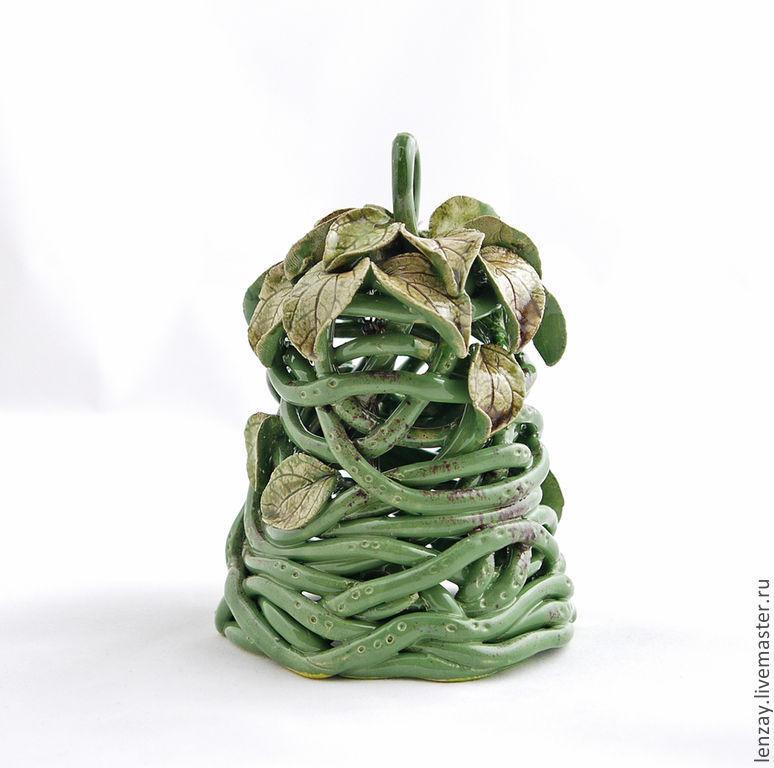 Ringing Kolokolchik Swamp nymph. Woven ceramics Elena Zaichenko