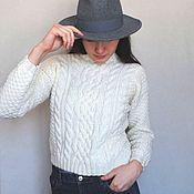 "Одежда handmade. Livemaster - original item Sweater ""White mood""  merino italian wool. Handmade."