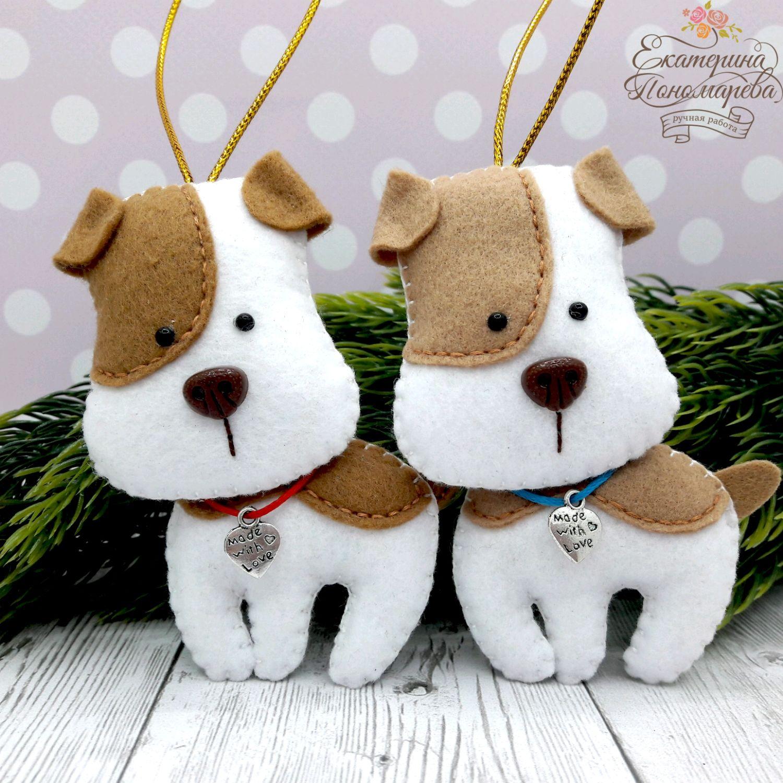 Puppies. The dog felt, Christmas decorations, Chekhov,  Фото №1