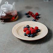 Посуда handmade. Livemaster - original item Wood flat plate (19#78. Handmade.