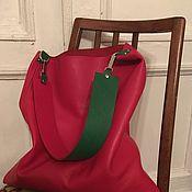 Сумка-мешок ручной работы. Ярмарка Мастеров - ручная работа КРАСНАЯ сумка мешок Кожаная сумка пакет Женская сумка. Handmade.