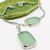 Украшения handmade. Livemaster - original item Pendant and Bracelet Silver mint. Handmade.