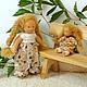 Вальдорфская игрушка ручной работы. Малышка с кукленком, 13 см и 7 см. svetlana. Ярмарка Мастеров. Детская кукла
