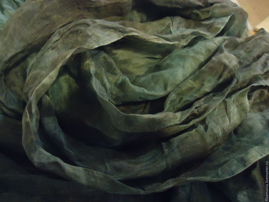 """Валяние ручной работы. Ярмарка Мастеров - ручная работа. Купить Шелк органза """"Мох"""" ,  3,9 м. Handmade. нуновойлок"""