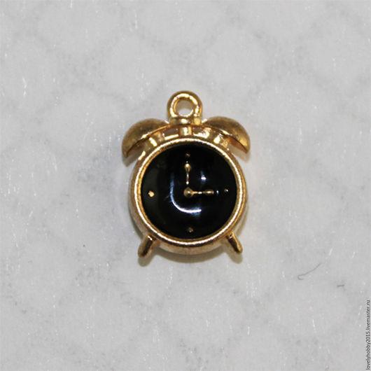 Металлическая подвеска `Черные часы`