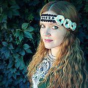 Украшения ручной работы. Ярмарка Мастеров - ручная работа Повязочка для волос с атласными цветами. Handmade.
