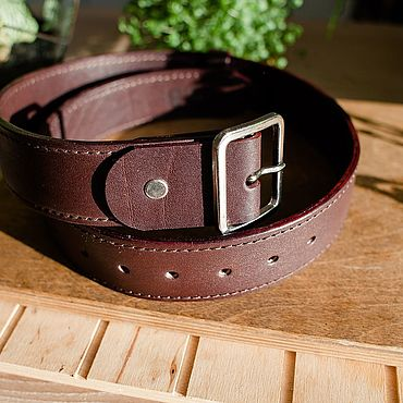 Accessories. Livemaster - original item Strap leather. Handmade.