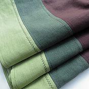 Одежда ручной работы. Ярмарка Мастеров - ручная работа Юбочка из льна (в наличии 44-46 размер). Handmade.