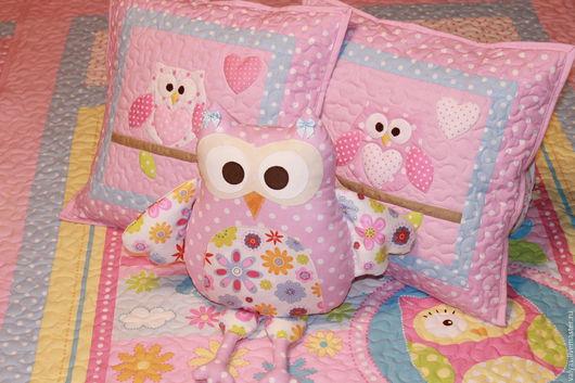 Детская ручной работы. Ярмарка Мастеров - ручная работа. Купить Комплект на двухъярусную кровать. Handmade. Розовый, детская комната