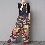 Одежда handmade. Livemaster - original item loose denim pants. Handmade.