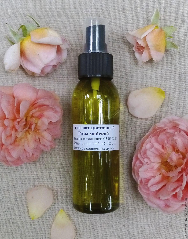 Гидролат розы чайной, натуральный, экологичный, ручной работы