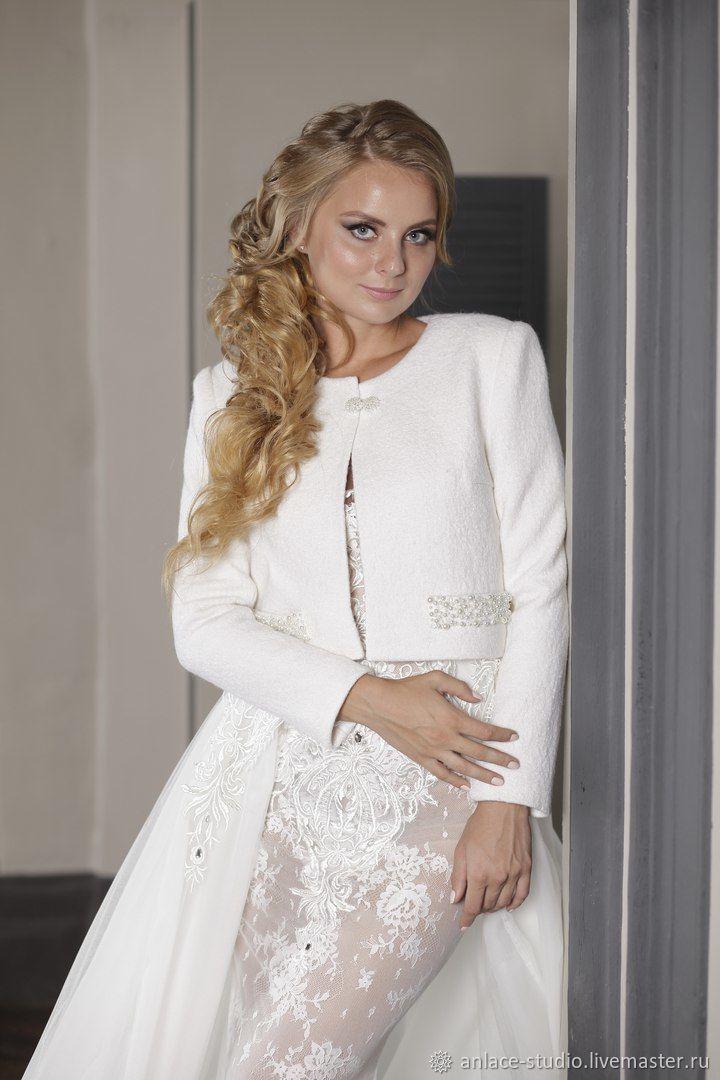 Свадебное Пальто Белое Женское Пальто «Белла», Накидки, Москва,  Фото №1