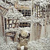 """Картины и панно ручной работы. Ярмарка Мастеров - ручная работа Картина в детскую """"Когда в душе теплый снежок и колокольчики"""". Handmade."""
