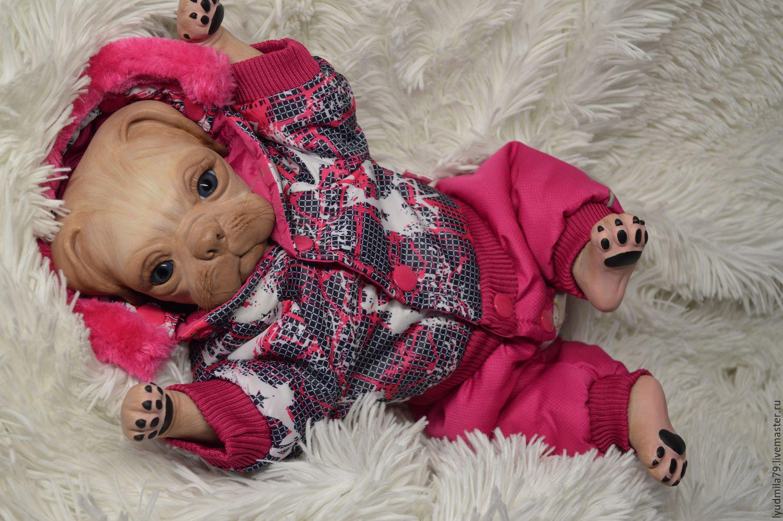 0ff99b5a64e0 Baby Dolls   Reborn Toys handmade. Livemaster - handmade. Buy Reborn pug  Princess from ...