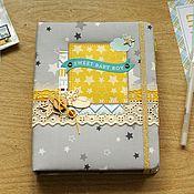 Блокноты ручной работы. Ярмарка Мастеров - ручная работа Звёздный  мамин дневник для мальчика. Handmade.