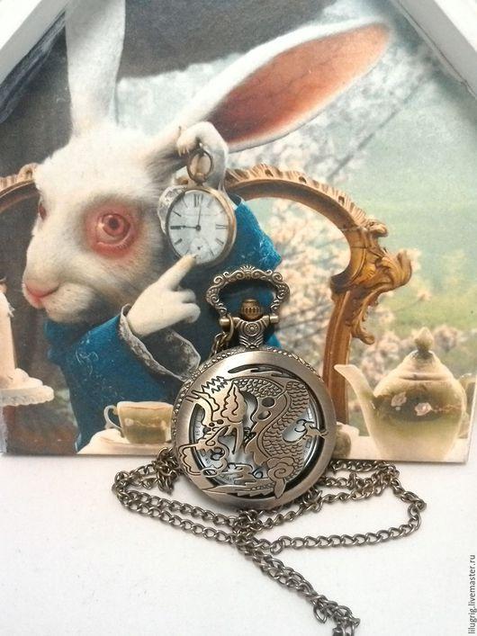 """Часы ручной работы. Ярмарка Мастеров - ручная работа. Купить Часы карманные """"Дракон резной"""". Handmade. Часы, подарок"""