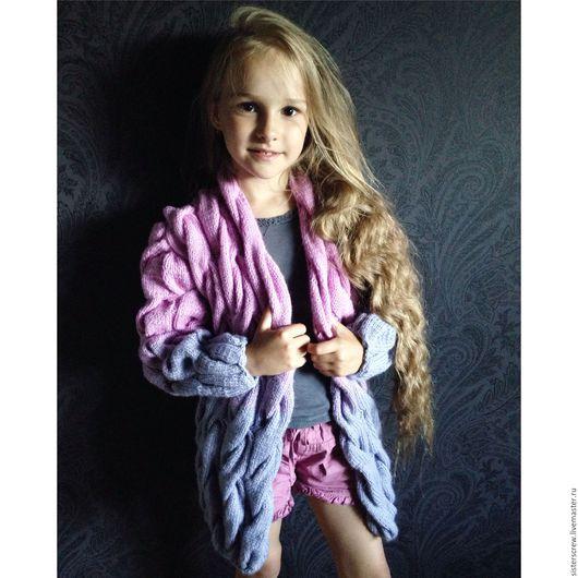 Одежда для девочек, ручной работы. Ярмарка Мастеров - ручная работа. Купить Кардиган Лало. Handmade. Розовый, кардиган, кардиган для девочки