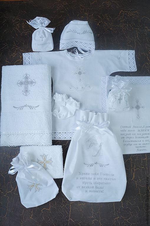 """Крестильные принадлежности ручной работы. Ярмарка Мастеров - ручная работа. Купить Комплект """"Молитва для Марии""""- детская молитва. Handmade. Белый"""
