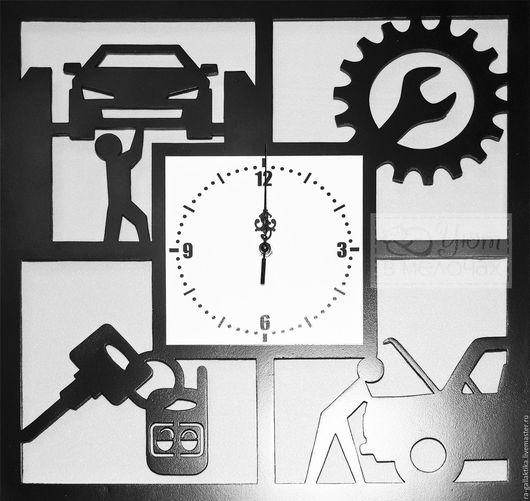 """Часы для дома ручной работы. Ярмарка Мастеров - ручная работа. Купить Часы настенные """"Гараж"""""""". Handmade. Часы настенные"""