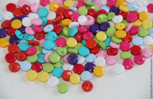 """Шитье ручной работы. Ярмарка Мастеров - ручная работа. Купить Пуговицы пластиковые цветные """"Радуга цвета"""". Handmade. Пуговицы"""