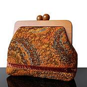 Сумки и аксессуары handmade. Livemaster - original item Felted Clutch bag on the clasp, tan, large clutch bag, Clutch bag. Handmade.