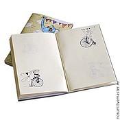 """Канцелярские товары ручной работы. Ярмарка Мастеров - ручная работа Блокнот Носуни """"Велосипедисты"""". Handmade."""