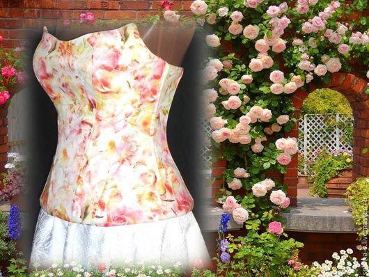 """Корсеты ручной работы. Ярмарка Мастеров - ручная работа. Купить Корсет """"Розовый сад"""". Handmade. Корсет, свадьба, винтаж, розовый"""