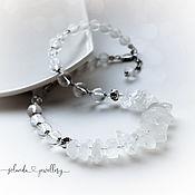 Украшения handmade. Livemaster - original item Necklace and earrings made of rock crystal and silver. Handmade.