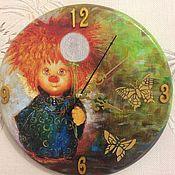 """Для дома и интерьера ручной работы. Ярмарка Мастеров - ручная работа Часы """"Ангелок"""". Handmade."""