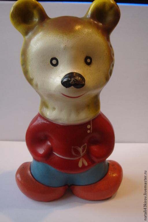 Винтажные куклы и игрушки. Ярмарка Мастеров - ручная работа. Купить Игрушка детская 50-е гг.. Handmade. Ярко-красный