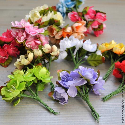 Цветы 6шт, букет №3, 12 цветов