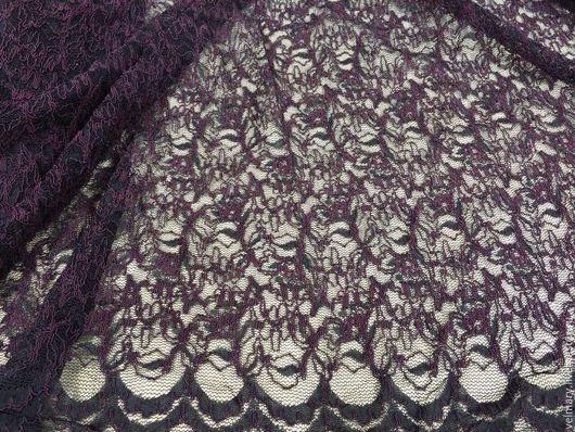 Аппликации, вставки, отделка ручной работы. Ярмарка Мастеров - ручная работа. Купить Кружевное полотно без эластана 20-22 чёрный/бордо. Handmade.