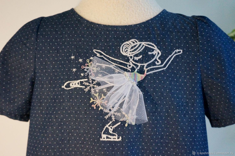 Платье с фигуристкой джинсовое, Платья, Санкт-Петербург,  Фото №1