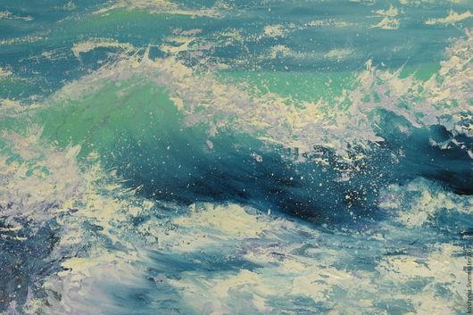 Пейзаж ручной работы. Ярмарка Мастеров - ручная работа. Купить Морская волна. Handmade. Морская волна, картина, картина маслом