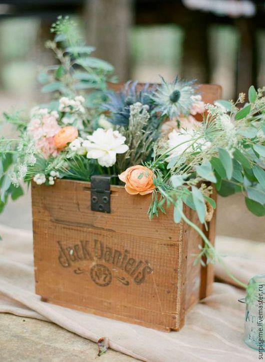 Подставки под цветы ручной работы. Ярмарка Мастеров - ручная работа. Купить Деревянные ящики для цветов. Handmade. Ящик