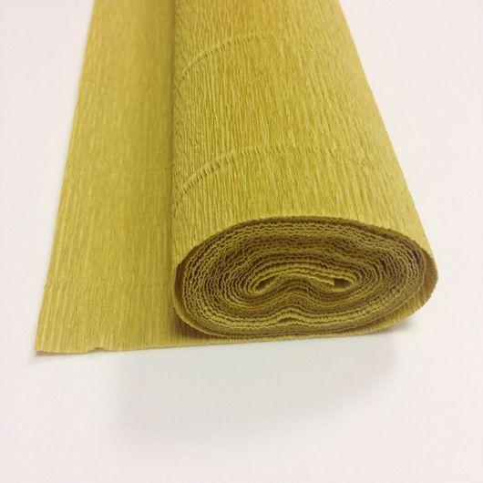 Упаковка ручной работы. Ярмарка Мастеров - ручная работа. Купить Гофрированная бумага Супер Экстра, 180гр, золотистый цвет. Handmade.