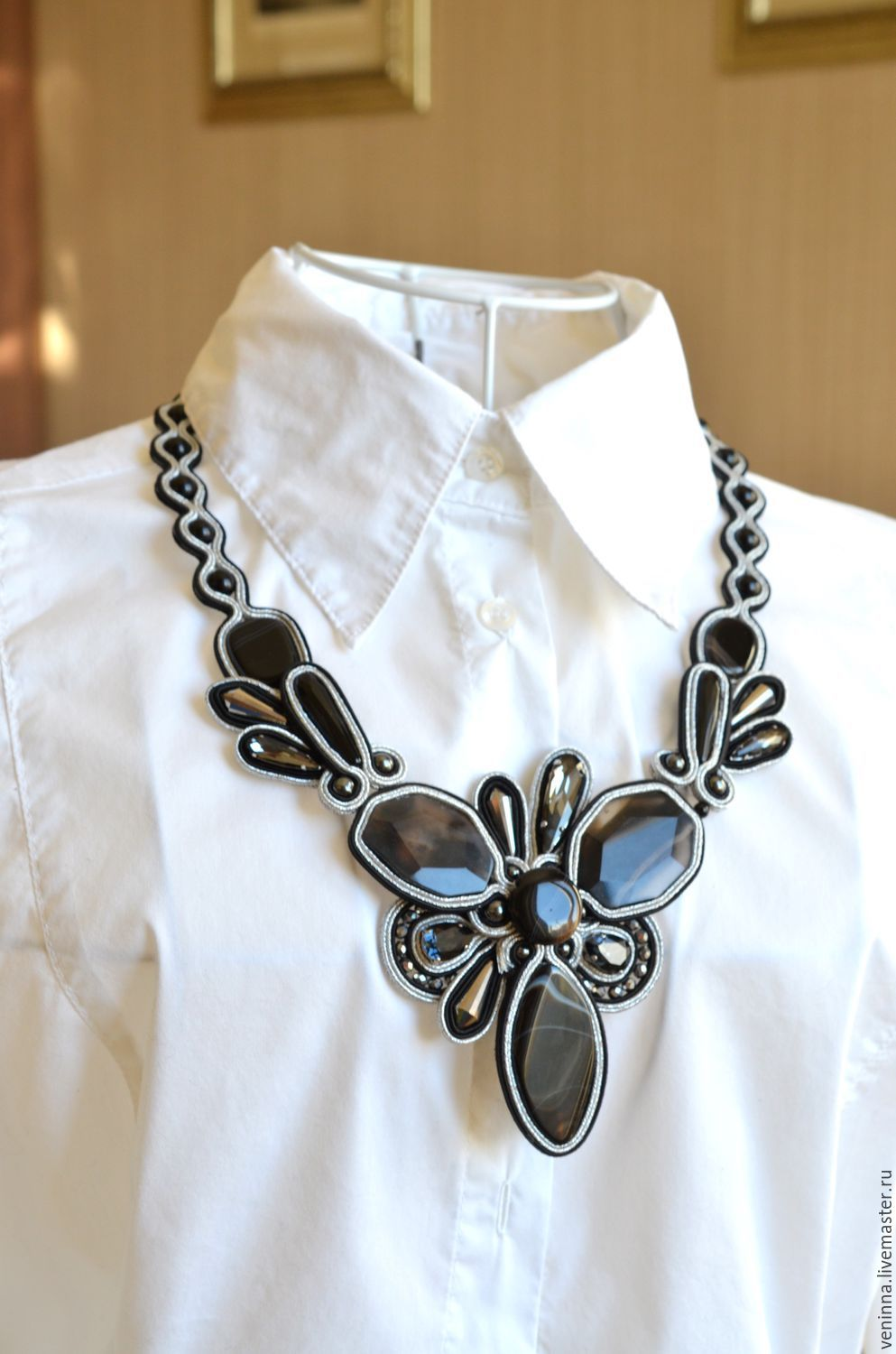 Soutache necklace 'gloss', Necklace, Moscow,  Фото №1